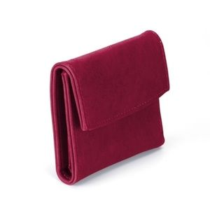 Handbags - Sangria Wine Red Burgundy Tri-Fold Vegan Wallet